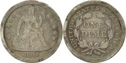 Us Coins - Coin, United States, Seated Liberty Dime, Dime, 1857, U.S. Mint, Philadelphia