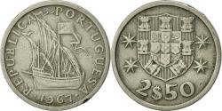 World Coins - Portugal, 2-1/2 Escudos, 1967, , Copper-nickel, KM:590