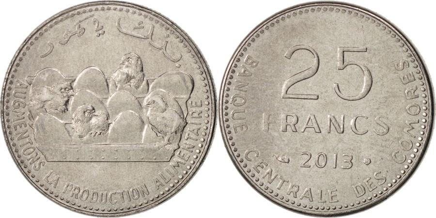 World Coins - Comoros, 25 Francs, 2013, Paris, , Cupro-nickel