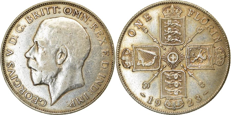 World Coins - Coin, Great Britain, George V, Florin, Two Shillings, 1923, , Silver