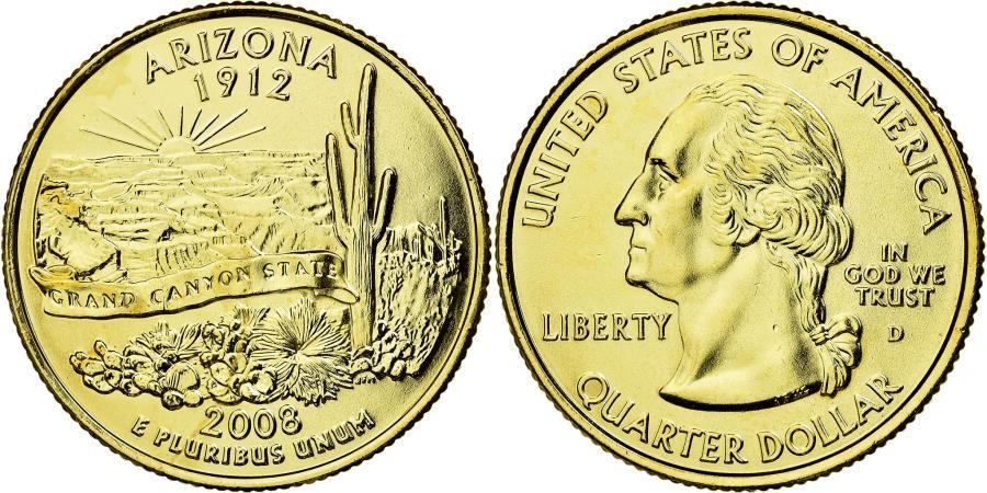 Coin, United States, Quarter, 2008, U S  Mint, Dahlonega, , Copper-Nickel