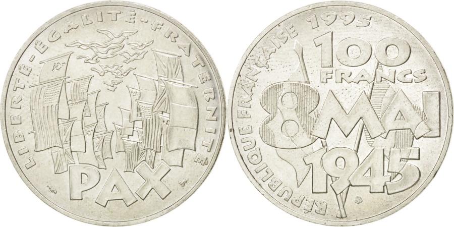 World Coins - FRANCE, 8 mai 1945, 100 Francs, 1995, KM #1116.1, , Silver, 31,...