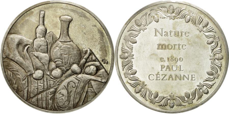 World Coins - France, Medal, Nature Morte, Paul Cézanne, , Silver