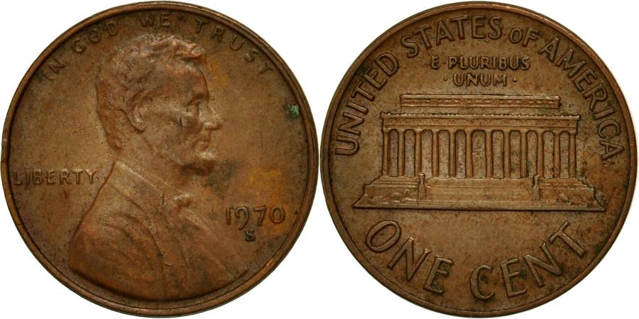 US Coins - Coin, United States, Lincoln Cent, Cent, 1970, U.S. Mint, San Francisco
