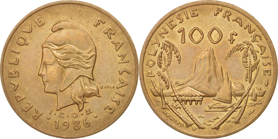 World Coins - French Polynesia, 100 Francs, 1986, Paris, , Nickel-Bronze, KM:14