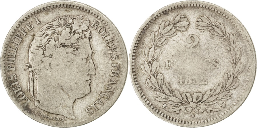 World Coins - FRANCE, Louis-Philippe, 2 Francs, 1832, Lille, KM #743.13, , Silver,...