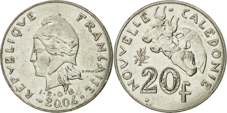 World Coins - Coin, New Caledonia, 20 Francs, 2004, Paris, , Nickel, KM:12