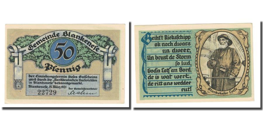World Coins - Banknote, Germany, Blankenese Gemeindesparkasse, 50 Pfennig, portrait, 1921