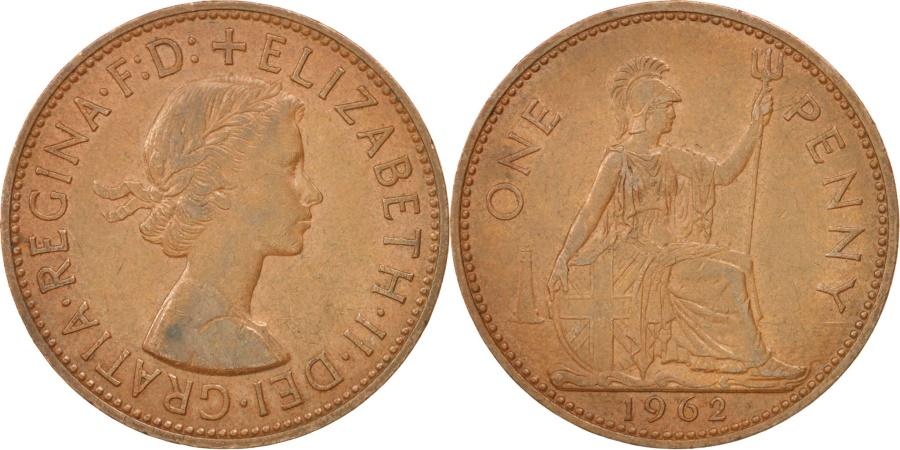 World Coins - Great Britain, Elizabeth II, Penny, 1962, , Bronze, KM:897