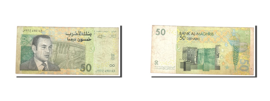 World Coins - Morocco 50 Dirhams 2002 KM:69a  VF(20-25) 97490163