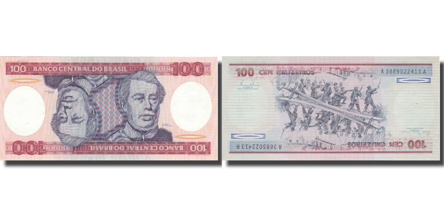 World Coins - Banknote, Brazil, 100 Cruzeiros, KM:198a, UNC(65-70)