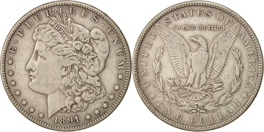 US Coins - United States, Morgan Dollar, Dollar, 1891, U.S. Mint, San Francisco,