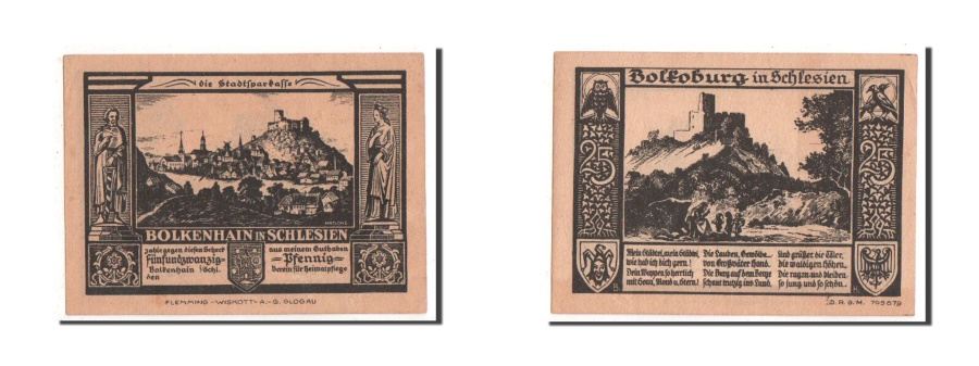 World Coins - Germany, Bolkenhain, 25 Pfennig, 1922, UNC(63), Mehl #137.1