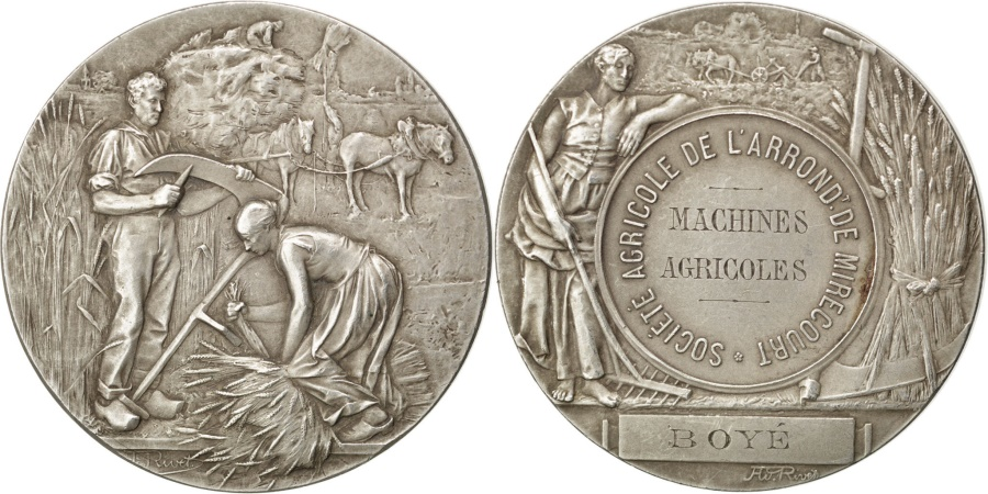 World Coins - FRANCE, Business & industry, French Third Republic, Medal, , Rivet,...