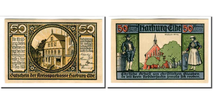 timeless design abff0 d9628 Banknote, Germany, Harburg, 50 Pfennig, Eglise, 1921, 1921-09-15, UNC(63)