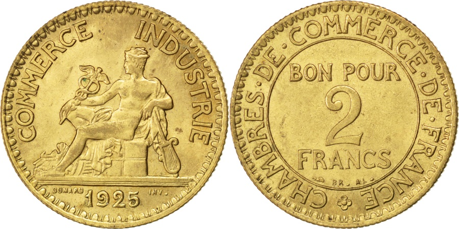 France chambre de commerce 2 francs 1925 paris km for Chambre commerce france