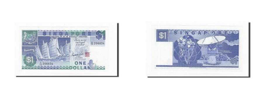 World Coins - Singapore, 1 Dollar, 1984-89, KM:18a, EF(40-45)