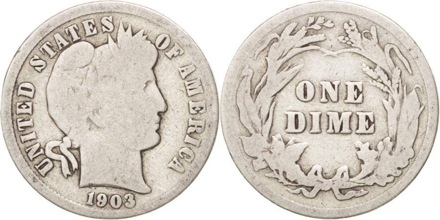 US Coins - United States, Barber Dime, Dime, 1903, U.S. Mint, Philadelphia,