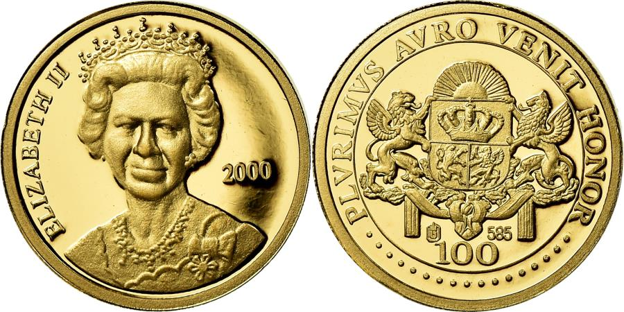 World Coins - United Kingdom , Medal, Queen Elizabeth II, Politics, Society, War, 2000