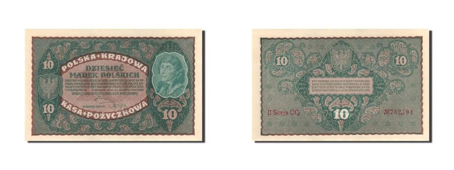 World Coins - Poland, 10 Marek, 1919, KM:25, 1919-08-23, UNC(63)
