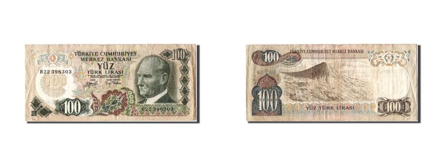 World Coins - Turkey, 100 Lira, KM #189a, VF(30-35), H22 398303