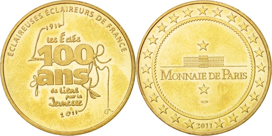 World Coins - France, Tourist Token, 93/ Eclaireurs de France, 2011, Monnaie de Paris