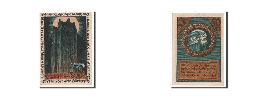 World Coins - Germany, Wettin Stadt, 50 Pfennig, personnage 1, Undated, UNC(65-70), Mehl:1421
