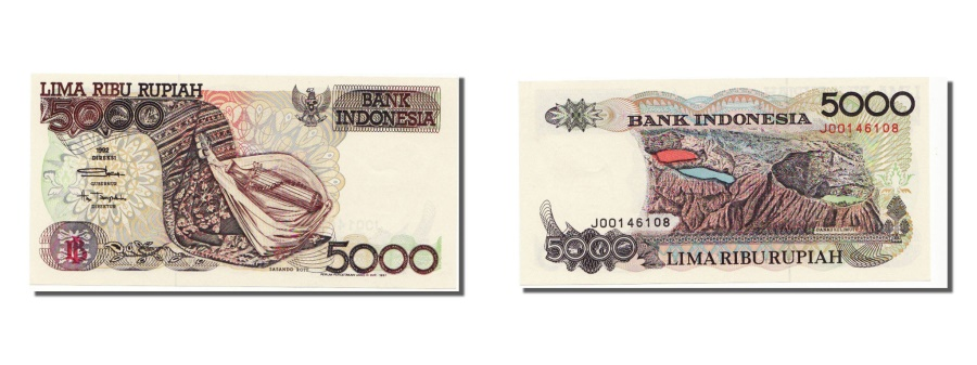 World Coins - Indonesia, 5000 Rupiah, 1992, KM #130a, UNC(65-70), J00146108