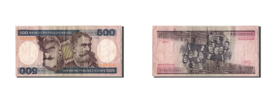 World Coins - Brazil, 500 Cruzeiros, KM #200a, EF(40-45), A3075023241A