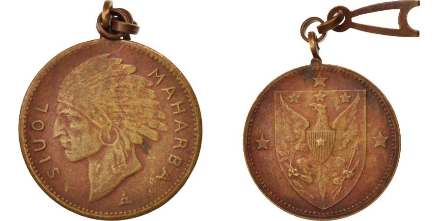 World Coins - France, Siuol Maharba, Politics, Society, War, , Medal,