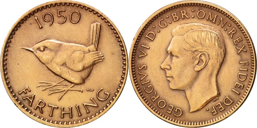 World Coins - Great Britain, George VI, Farthing, 1950, , Bronze, KM:867
