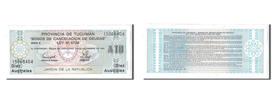 World Coins - Argentina, 1 Austral, 1991, KM #S2711b, UNC(65-70), 15068404
