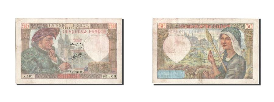World Coins - France, 50 Francs, 50 F 1940-1942 ''Jacques Coeur'', 1940, KM #93, 1942-01-08,..