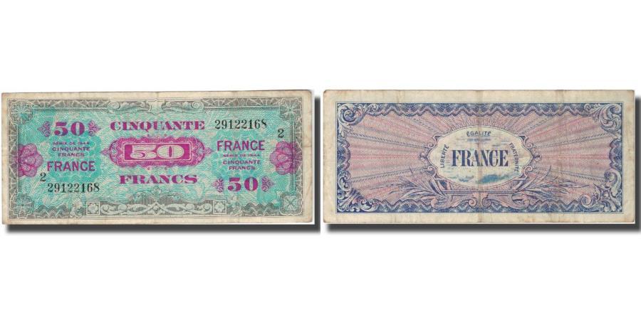 World Coins - France, 50 Francs, 1944, 1944, VF(20-25), Fayette:19.1, KM:117a