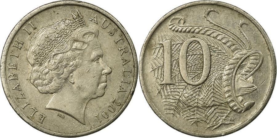World Coins - Coin, Australia, Elizabeth II, 10 Cents, 2001, , Copper-nickel, KM:402
