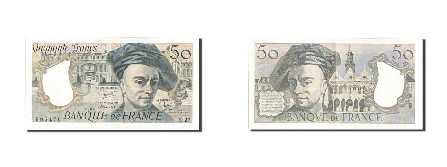 World Coins - France, 50 Francs, 50 F 1976-1992 ''Quentin de La Tour'', 1982, KM #152b,...