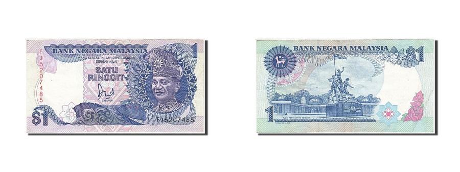 World Coins - Malaysia, 1 Ringgit, 1986-1995, Undated, KM:27A, AU(50-53)