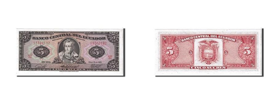 World Coins - Ecuador, 5 Sucres, 1980, KM #113c, UNC(65-70), HU13362192
