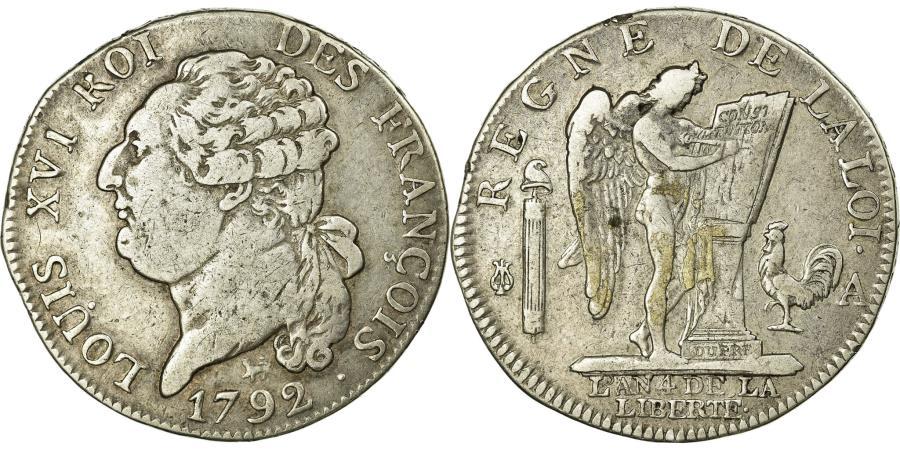 World Coins - Coin, France, Louis XVI, ½ écu de 3 livres françois, 1792, Paris