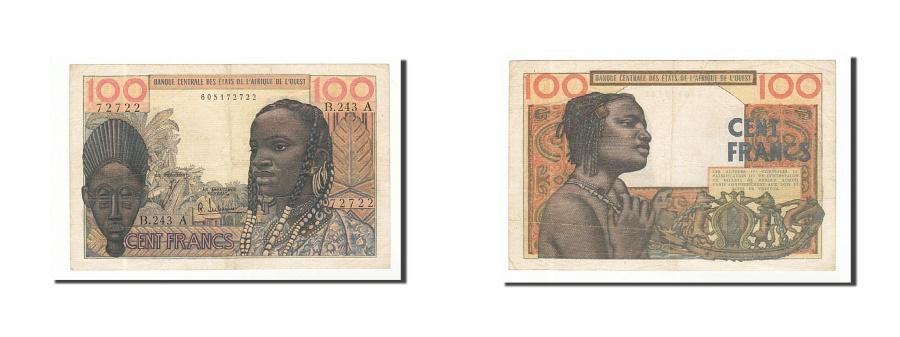 World Coins - West African States, 100 Francs, Undated (1959-65), KM:101Af, EF(40-45)