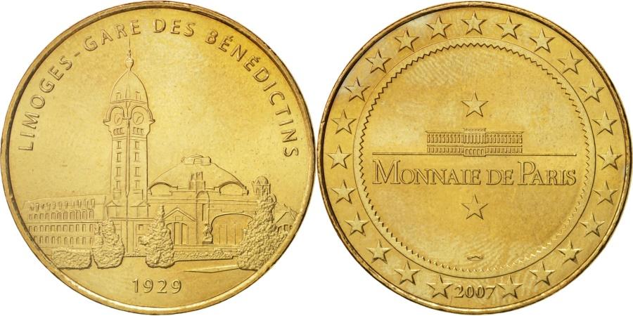 World Coins - France, Touristic token, 87/ Limoges - Gare, 2007, Monnaie de Paris