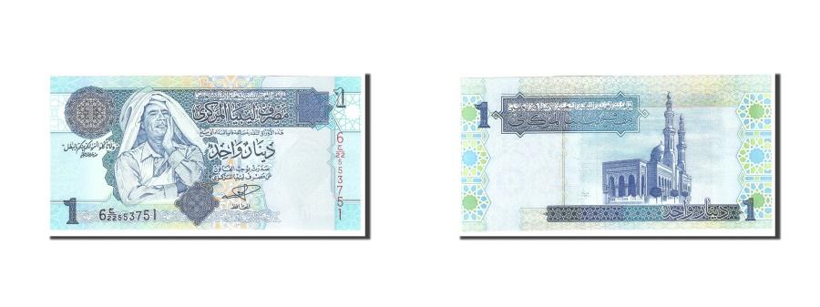World Coins - Libya, 1 Dinar, 2004, KM:68a, Undated, UNC(65-70)