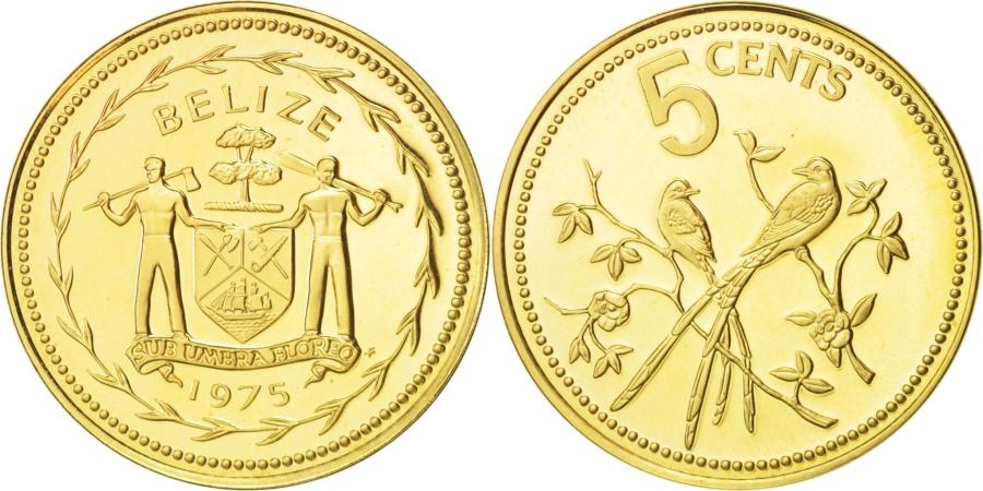 World Coins - Belize, 5 Cents, 1975, Franklin Mint, , Nickel-brass, KM:47