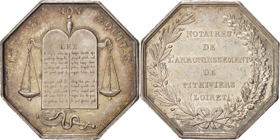 World Coins - France, Notary, Token, , Silver, 31, Lerouge #327, 16.30