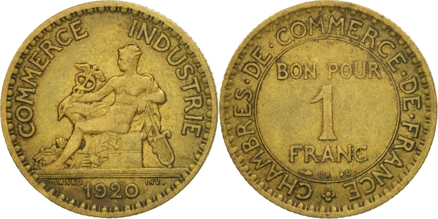 France chambre de commerce franc 1920 paris vf 30 35 for Chambre commerce international paris