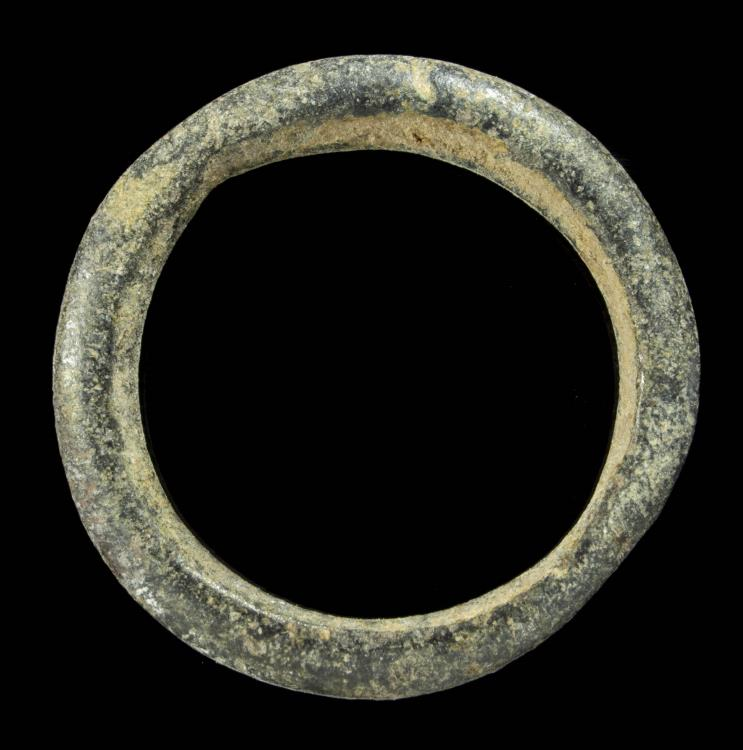 Ancient Coins - Awesome Ancient Bronze Precoin, ring shape - 24 mm / 3.42 gr.