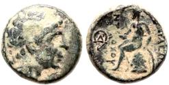 Ancient Coins - SELEUKID KINGS of ANTIOCHOS I ANTIOCH MINT Æ 3.9 GR & 15,10 MM