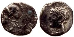 Ancient Coins - CILICIAN TARSUS AR OBOL 0.6 GR & 10,64 MM