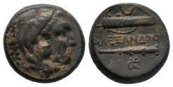Ancient Coins - KINGS of MACEDON ALEXANDER III THE GREAT AE BRONZE