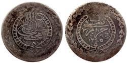 World Coins - OTTOMAN ALGERIA MAHMUD II AR 1 BUDJU AH 1245 JAZAIR 9.9 GR & 28,59 MM